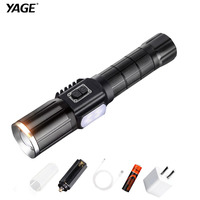 YAGE New 343C T6 2000LM Aluminum Zoom CREE LED Flashlight USB In Out Power Bank Warning