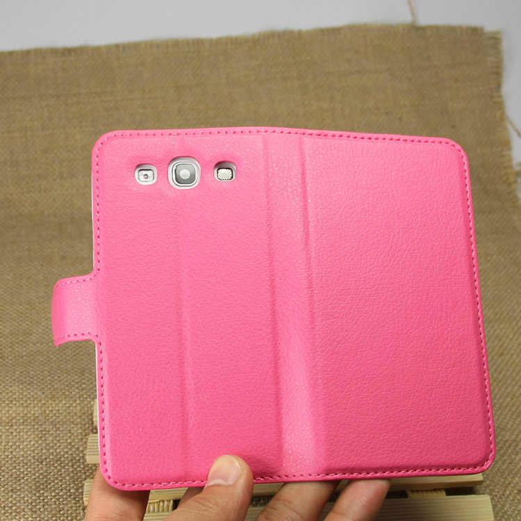 Ví Bao Da Ốp Lưng Cho Samsung Galaxy S3 I9300 SIII S III GT-I9300 S 3 Duos Da Điện Funda Coque Di Động ốp Lưng Điện Thoại Khe Cắm Thẻ