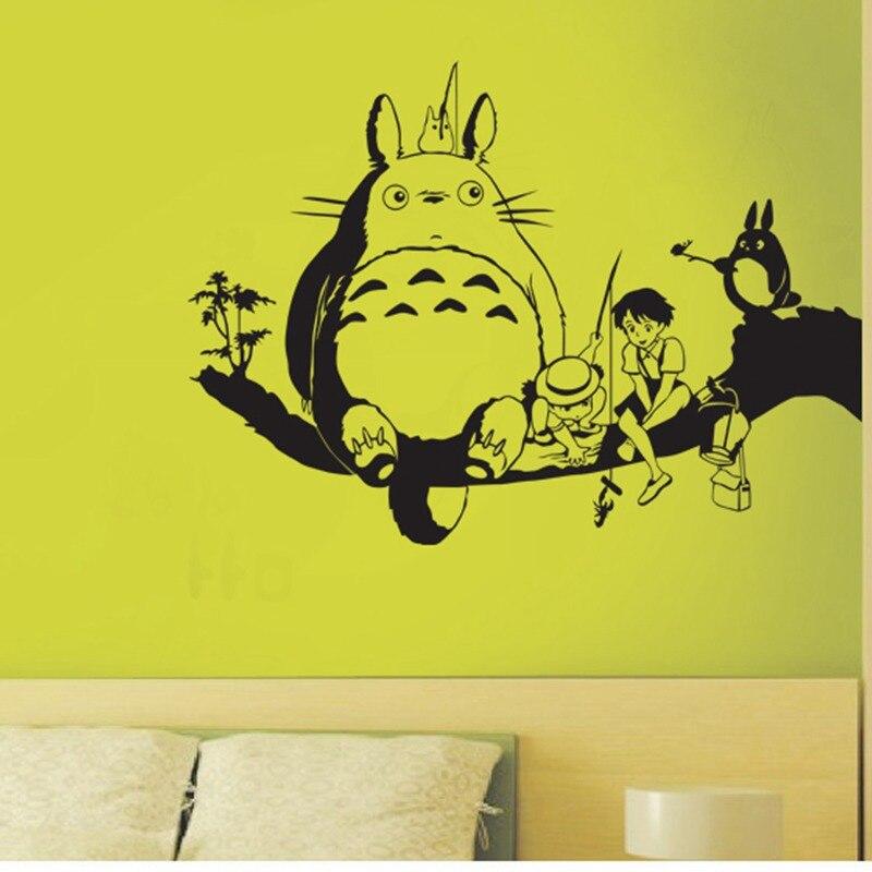 Totoro Lepicí obraz na stěnu Vinylové samolepky na stěnu Obtisky Dekorace domů Dekorativní dekorace Anime Totoro Auto Sticker