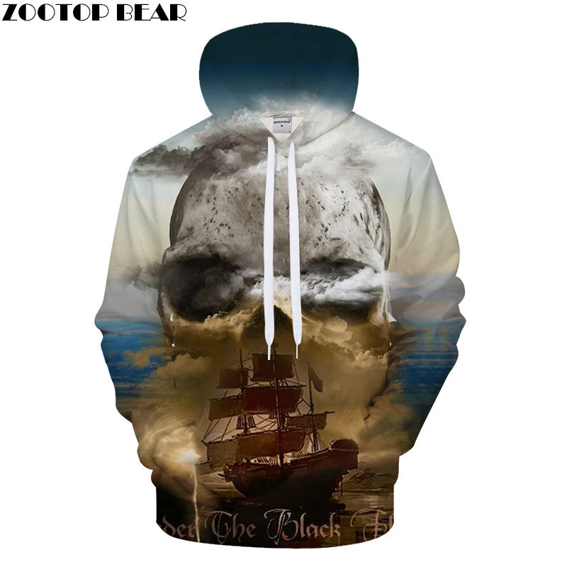 Women's Clothing Boat&skull 3d Print Hoodies Men Women Casual Sweatshirt Brandtracksuit Pullover Autumn Coat Streatwear Hoody Dropship Zootopbear To Suit The PeopleS Convenience