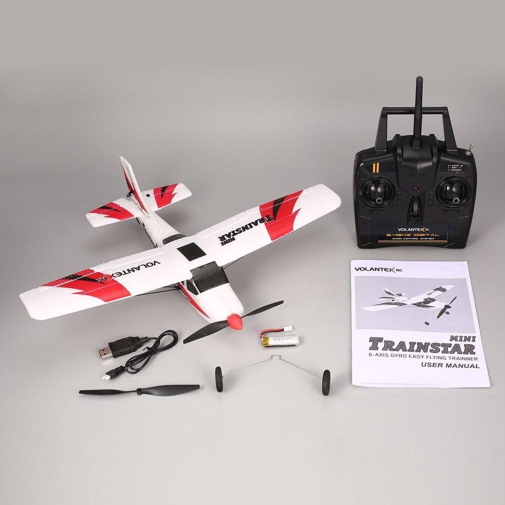 VOLANTEX V761-1 2.4Ghz 3CH Mini Trainstar 6-Axis Remote Control RC Airplane Fixed Wing Drone Plane RTF for Kids Gift Present Pakistan