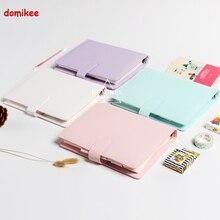 Macaron leder spirale notebook Original büro person binder wöchentlich planer/agenda organizer Cute ring tagebuch schreibwaren A5 A6