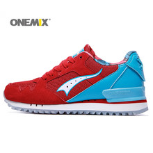 Onemix Men's Winter Spring Outdoor Sneakers for Running Trekking Breathable Shoes Deodorizing Insole Retro Style for Lovers