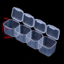 Home Storage HOT 28 Slots Adjustable Clear Plastic Jewelry Box Craft Organizer Beads Boxes