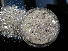 PURE 100% BEST SILVER SHINING UV Glitter Powder Dust Sheet Nail Art Decorations Small Fine Glitter ,5G Jar,YTKL02265221148712212