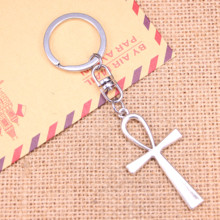 20pcs Keychain 52x28mm cross egyptian ankh life symbol Pendant DIY Men Jewelry Car Key Chain Ring Holder Souvenir For Gift