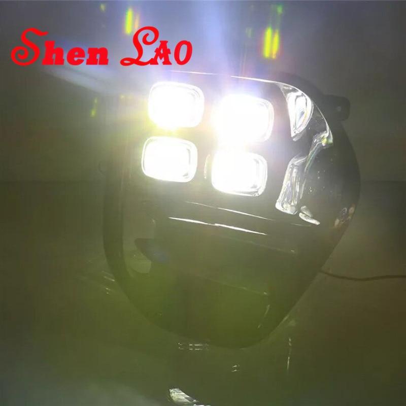 ShenLao LED Fog Light Lamp Daytime Running Light For KIA Sportage QL kx5 2016 2017 Auto Car White LED DRL Lights For KIA KX5 1 set led drl daytime running lights driving fog lamp covers for kia sportage 2015