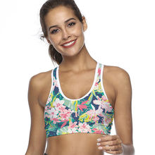 96113dab01 Women s Compression Padded Sports Bra With Phone Pocket Yoga Bra Sportswear  Elastic Running Underwear Gym Sport