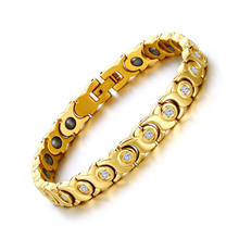 Vnox 2017 New Women Bracelet Bangle Zricon Stone Hematite Magnetic Health Care C Jewelry