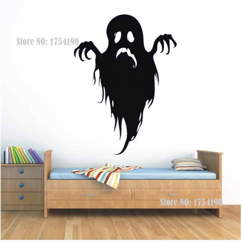 ghost halloween decorative wall stickers affixed to the glass shop window affixed to wall decoration shop cafe bar free shipping