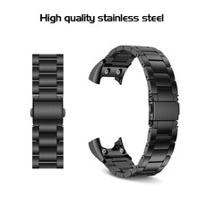 Replacement Stainless Steel Strap for Garmin Vivosmart HR Band With Tools and Screws for Garmin Vivosmart HR Bracelet for People