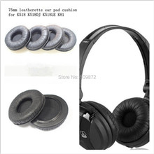 10 Pack of Replacement Leather Ear Pads Ear Cushions 75mm diameter fit on AKG K518 K518DJ K518LE K81 1 pair replacement foam ear pads cushions 70mm for sony mdr nc6 for akg k518dj k518le k81 headphones high quality 1 15