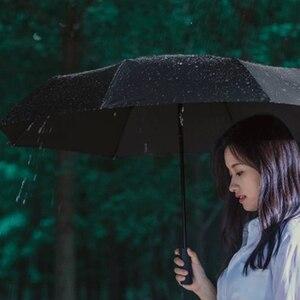 Image 2 - מקורי Xiaomi Mijia אוטומטי גשום שמש אלומיניום Windproof עמיד למים UV גבר ואישה קיץ החורף
