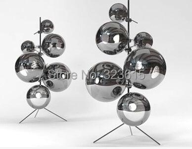 Modern Stylish Minimalist Mirror Ball Floor Lamp Living Room Bedroom ...