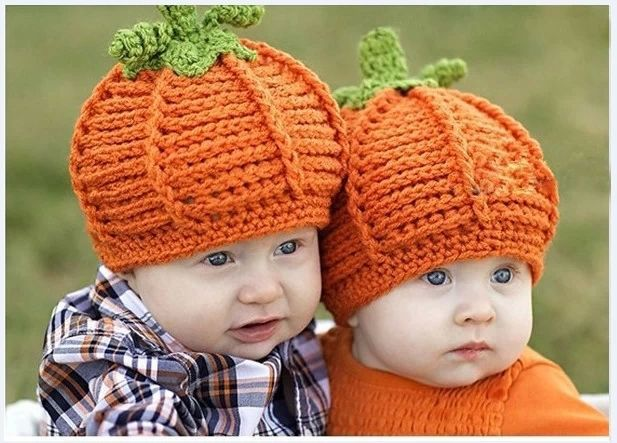 6b9e2aa7fef 2014 handmade crochet hats newborn twins baby infant baby boy Girl caps  photography props photo prop Pumpkin Hat Halloween