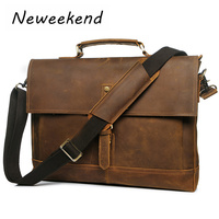 Для мужчин в стиле ретро из натуральной кожи Бизнес Сумки Портфели чехол для ноутбука атташе Портфолио сумка через плечо сумка YD 8047