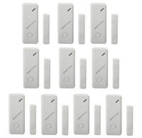 10 x Wolf Guard Wireless Door Window Alarm Sensor Detector for Home Security Alarm System 433MHz White