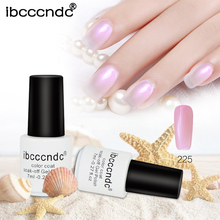 Ibcccndc 7ml Soak Off UV Gel White Pel Nail Polish Semi Permanent Lacquer Varnishes Art Tool
