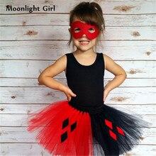 1-12 Years Baby Girls Skirts Red Black Evil Diamonds Queen Costume Tutu  Skirt Halloween d98b1f58b8b0