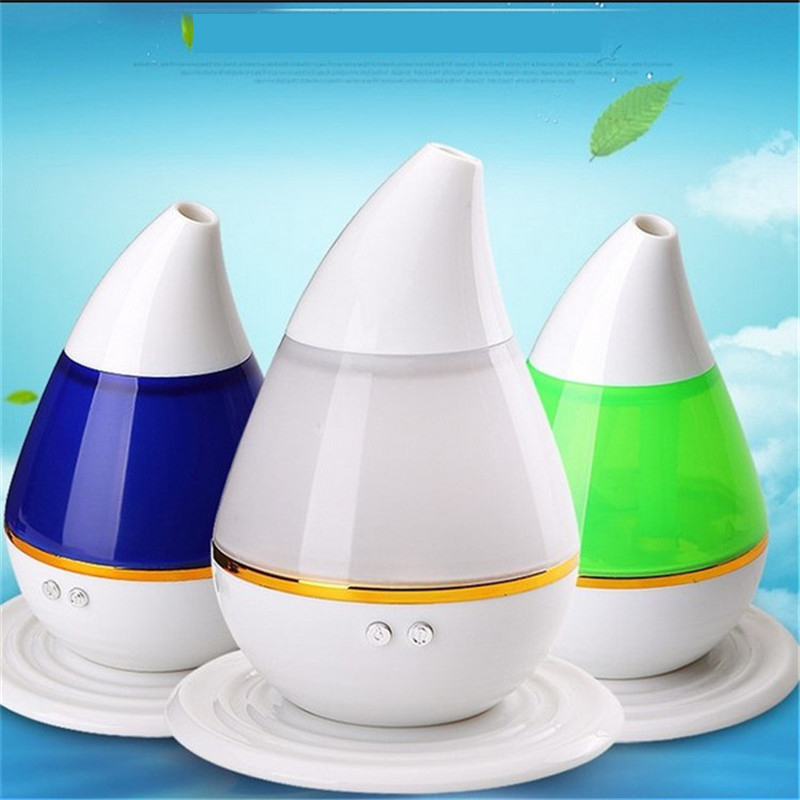 USB Colorful Water Droplets Air Humidifier Ultrasonic Aromatherapy Essential Oil Diffuser 250ML Mist Maker LED Light Fogger hot sale humidifier aromatherapy essential oil 100 240v 100ml water capacity 20 30 square meters ultrasonic 12w 13 13 9 5cm