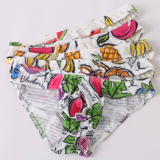 New AiBC summer men's breifes underwear mesh sexy fashion underwear male briefs