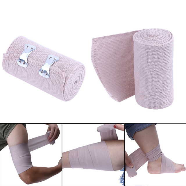 1 6mx7 2cm Power Lifting Elastic Bandage Tape Leg Calf Knee