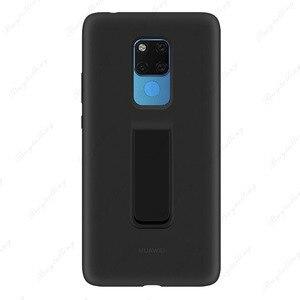 Image 5 - Funda trasera Original oficial Huawei mate 20 X soporte de silicona líquida suave de microfibra integrada para Mate 20X5G