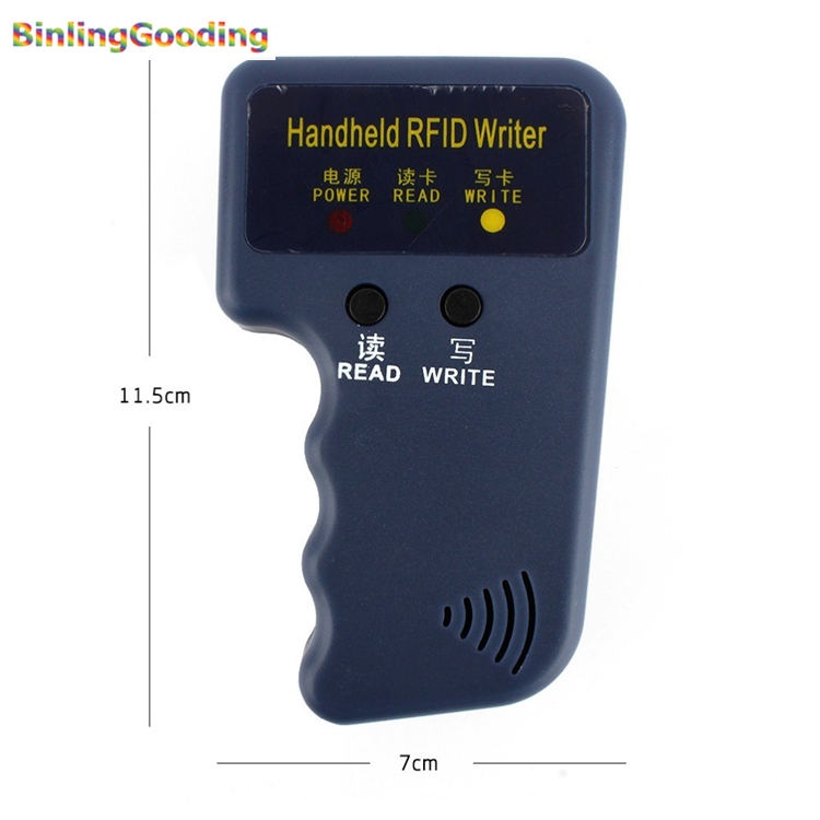 Handheld 125KHz RFID Copier Reader Writer RFID Duplicator EM ID Copier Wholesale Price(Without Rewritable RFID Card Sample) rfid transponders