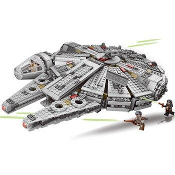 1381 Pcs Millennium Falcon Kracht Ontwaken Star Wars 7 Bouwstenen Speelgoed Voor Kinderen Star Wars Speelgoed Met legoingly 79211
