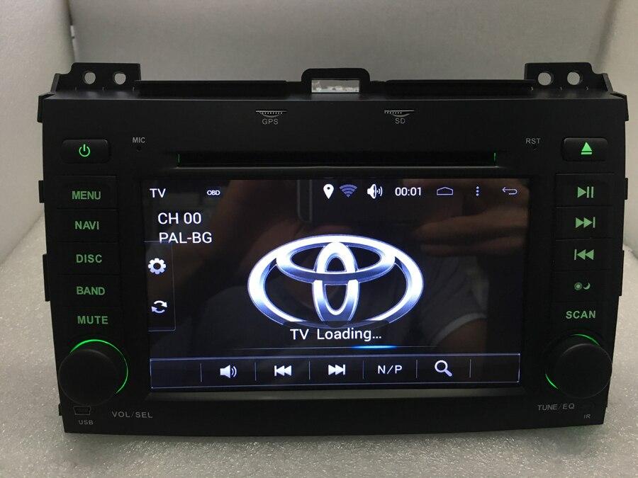 imágenes para Android 6.0 Coches Reproductor de DVD para Toyota Land Cruiser Prado 120 2002-2009 Radio GPS Navi BT wifi 16 GB/DDR3 1G cámara Envío gratis