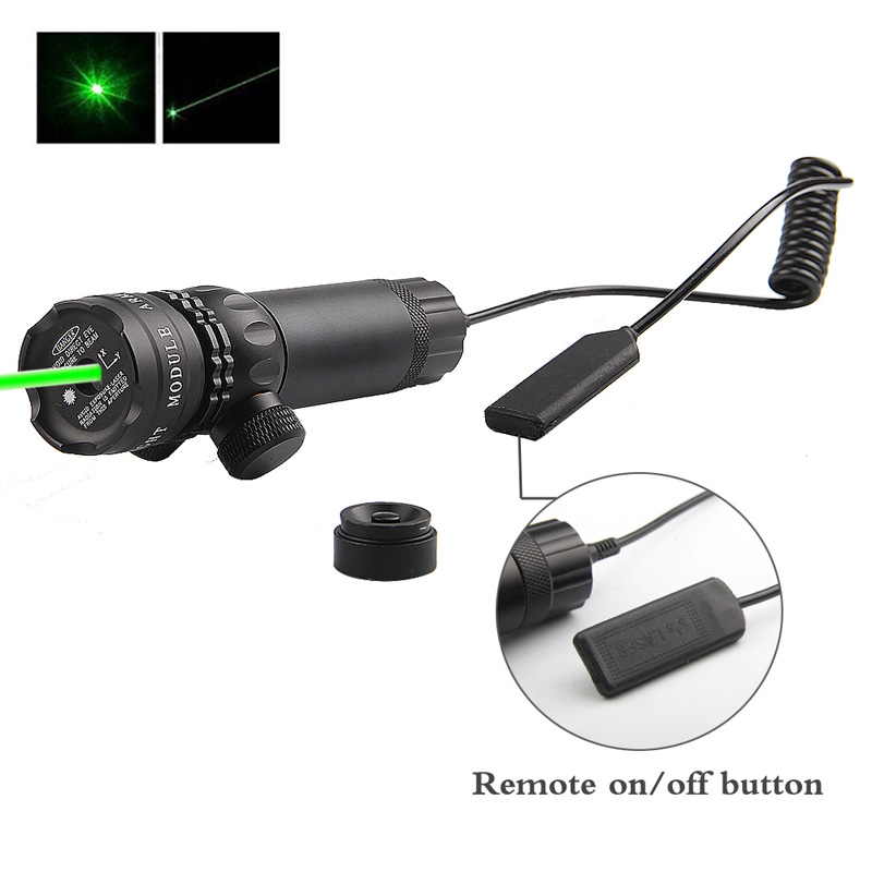 Adjustable Green Laser Sight With Mount & Remote Pressure Switch 3-1G-02