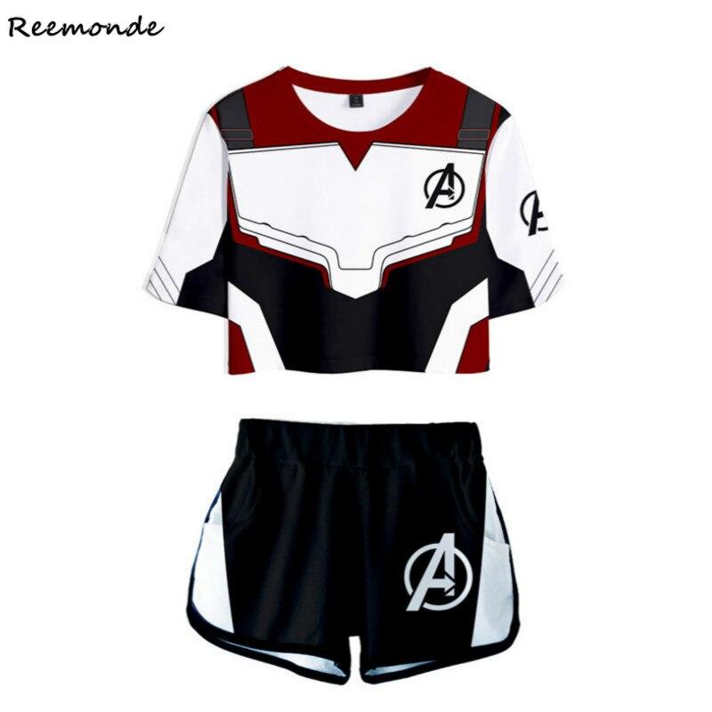 Avengers Endgame Quantum Realm Cosplay Costume Superhero Captain America Tights
