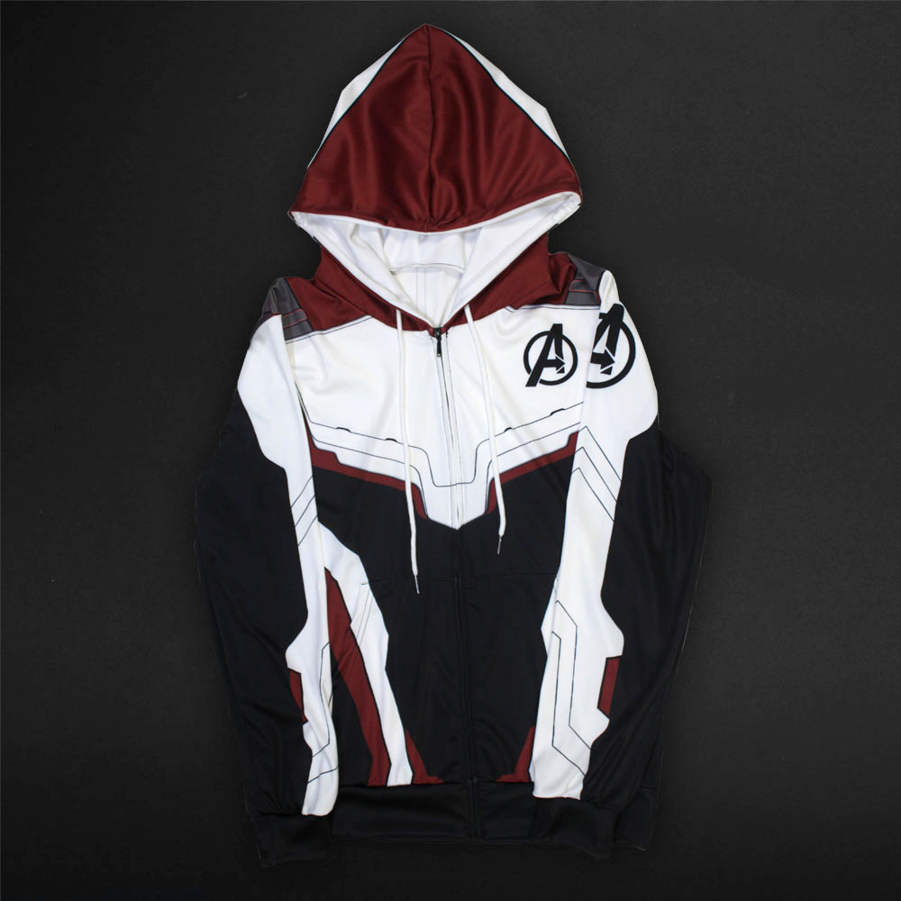 Men Women Avengers Endgame Realm Cosplay Hoodies 3D Pullover Sweatshirt Quantum Realm Superhero Zipper Jacket Costumes3