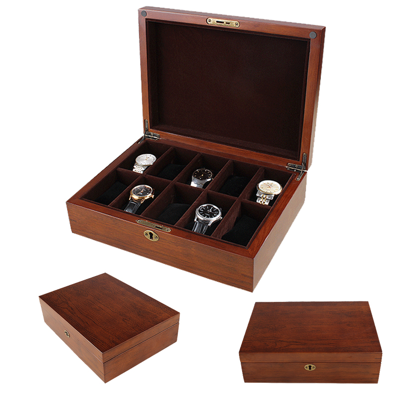 2019 New 10 Grids Wooden Watch Boxes for Hours Sheath for Hours Box for hours Watch 61 hours