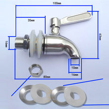 Stainless Steel Beverage Dispenser Replacement Faucet Tap Spigot for Barrel Fermenter Wine Beer GHS99(China)