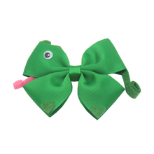4 inch modelling is lovely green snake exclusive DIY craft bowknot hairpin boutique hair accessories cheap clips