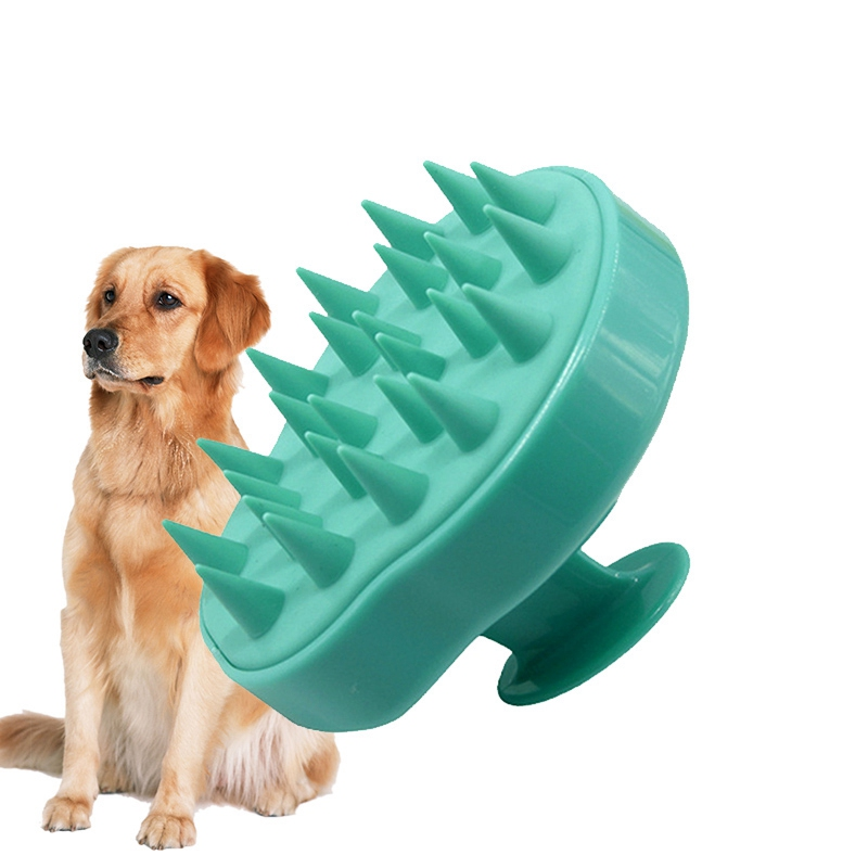 Pet Dog Grooming Handhold Bathing Tool Massage Silicone Bath Brush Comb for Dogs Pet cleaning Massage Tool Cats Dog Accessories
