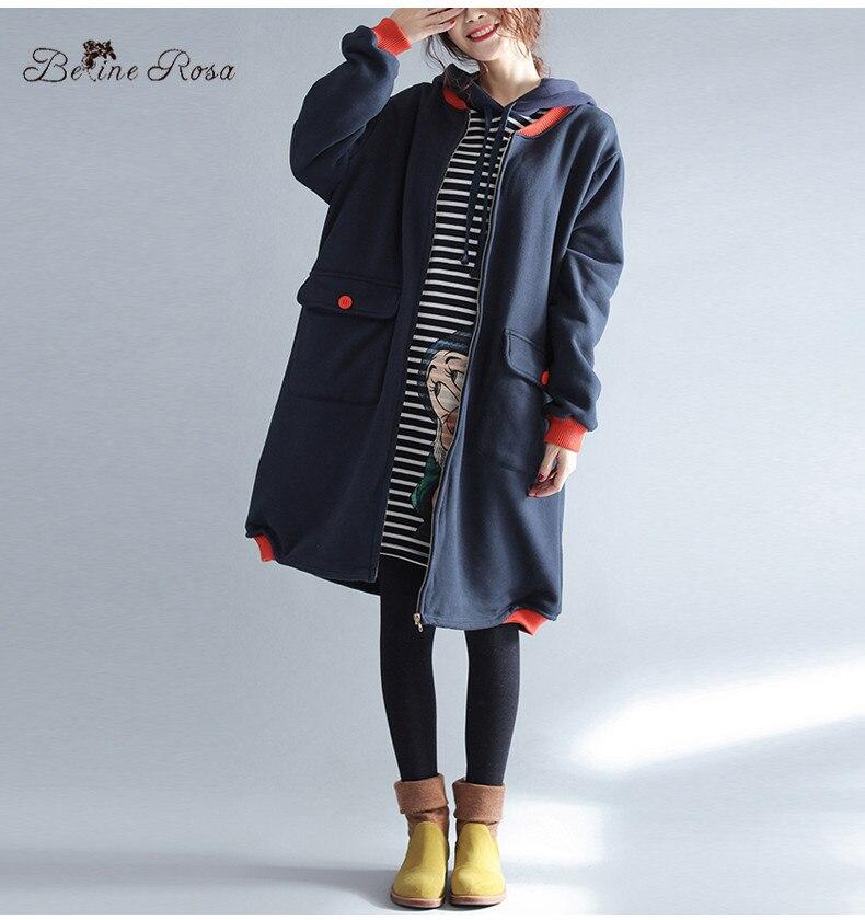 BelineRosa 2017 vrouwen Winterjassen Koreaanse Fashion Karakter Printing Fleece Voering Plus Size Kleding zonder Kap HS000407-in Hoodies en sweaters van Dames Kleding op AliExpress - 11.11_Dubbel 11Vrijgezellendag 2