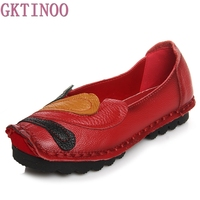 New Spring Autumn Loafers Women S Flat Shoes Woman Vintage Handmade Shoes Genuine Leather Soft Outsole