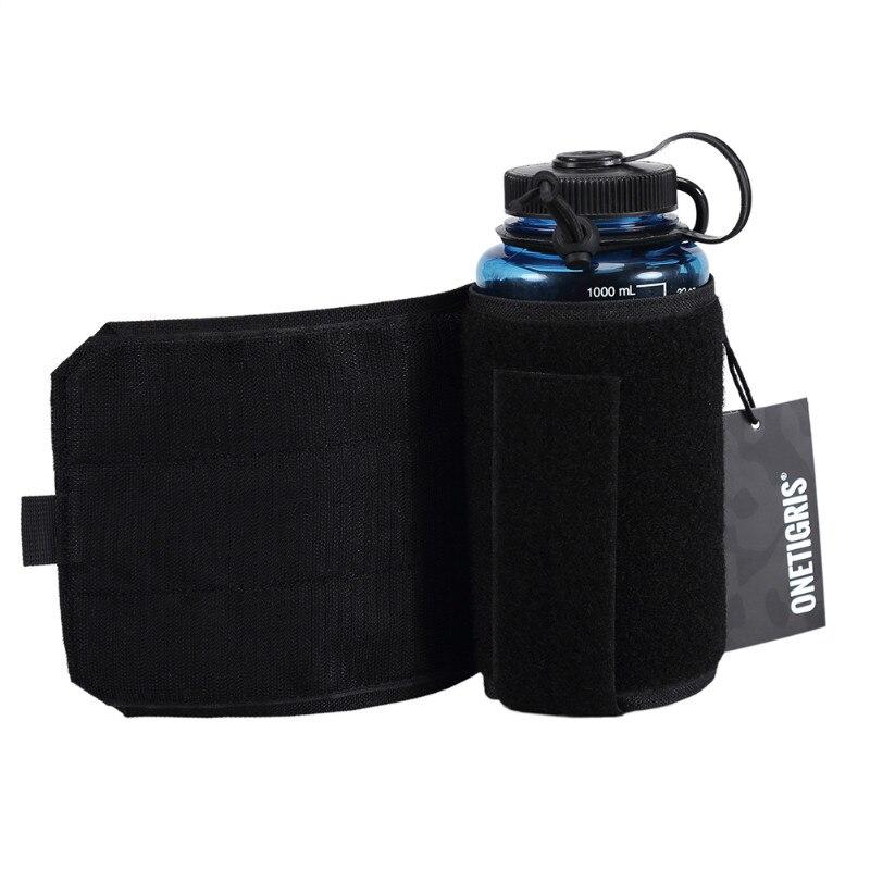 Onetigris cantil bolsa 1000d náilon molle ajustável tudo-em-um portador para 32 oz nalgene garrafa de água ou nalgene oasis cantina