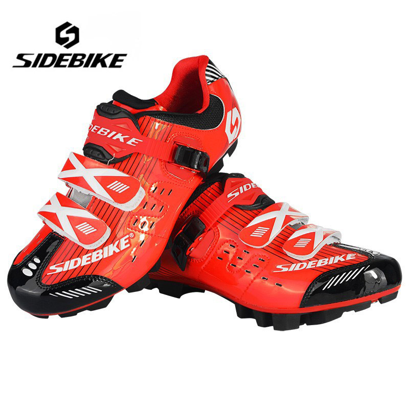 ФОТО SIDEBIKE Men Women Mountain Bike Racing Cycling Shoes Breathable  MTB Self-Locking bicycle shoes Zapatillas Zapato Ciclismo