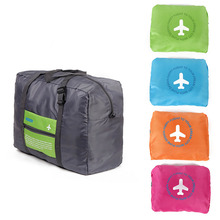 8PCS / LOT 2018 Travel Bags WaterProof Folding Bag Large Capacity Portable Luggage Women Nylon Handbags Wholesale