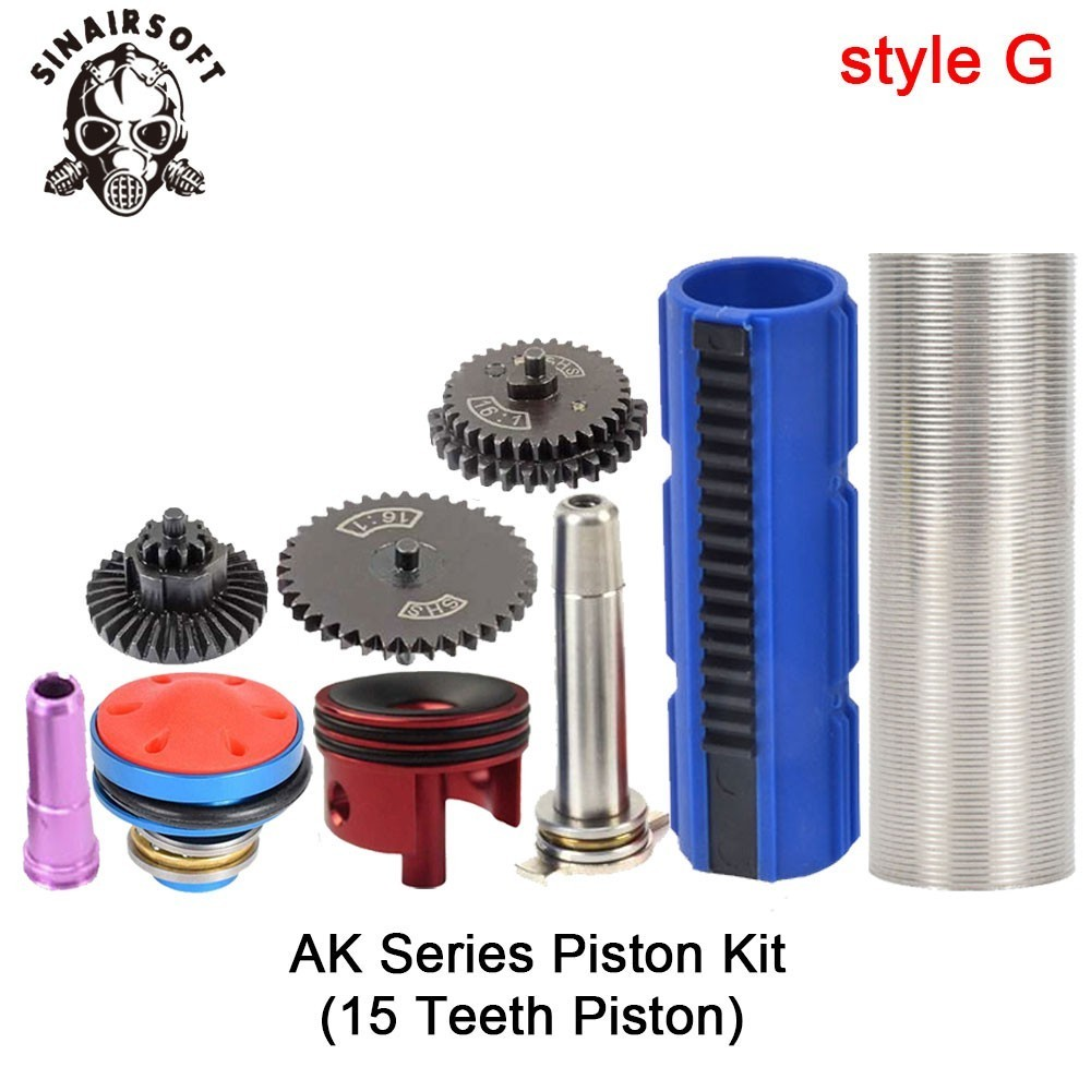 SHS-16-1-Gear-Nozzle-Cylinder-Spring-Guide-14-Teeth-Piston-Kit-Fit-Airsoft-M4-M16 (6)