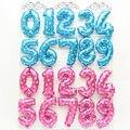 1 шт. 16 32 дюймов воздушный шар с цифрами синий красный розовый надувные шары из алюминиевой фольги детский душ с днем рождения вечеринка Свад...