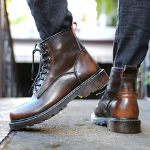 Men Martins Boots DR Motorcycle Cow Leather Lining Boots Winter Vintage Bota Luxury Desigh High Top Work Boots Zapatos De Hombre