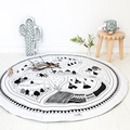 Kids Game Mats Baby Crawling Blanket Cotton Chilren Padded Play Mat/ Round Racing Games Carpet Play Rug Kids Room Decoration