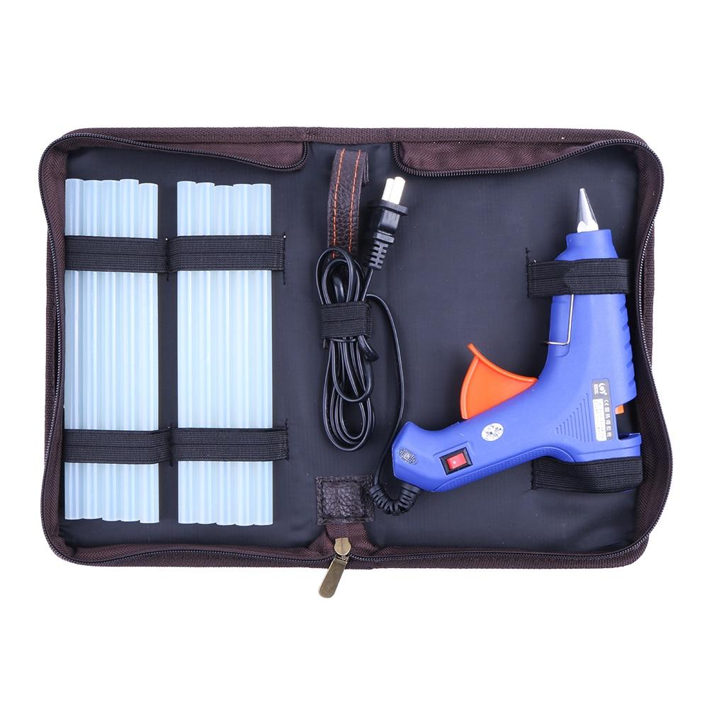 60W Hot Melt Air Glue Gun High Temp Heater Mini Gun w/ 10pcs Glue Sticks for Metal/Wood Working 110V-220V US plug