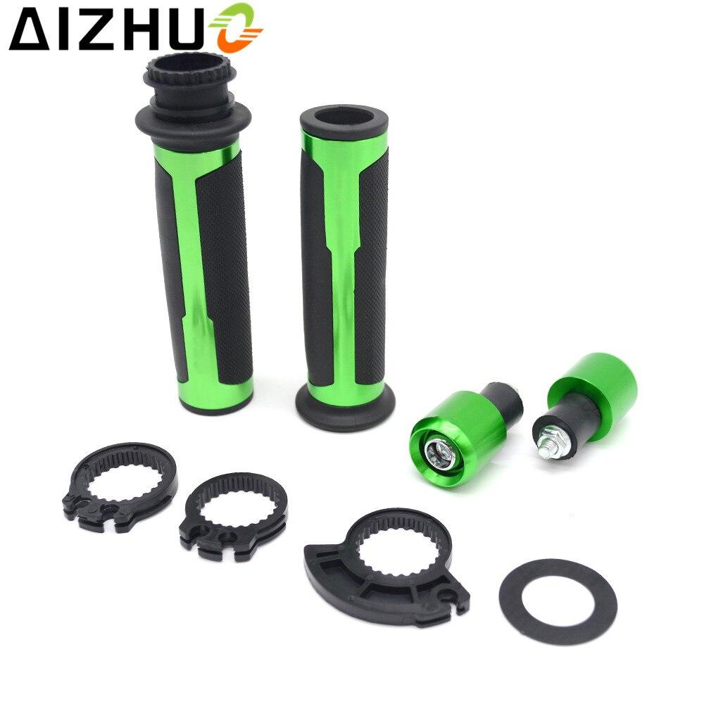 22mm Motorcycle Handle Grip CNC Aluminum handlebar Grips For kawasaki ninja 250R 300 650 ZX6R 636 ZX6RR ZX9R ZX10R ZX12R ZX14R