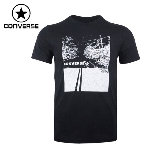 US $39.2 30% OFF|Original New Arrival 2018 Converse Men's T shirts short sleeve Sportswear in Running T Shirts from Sports & Entertainment on