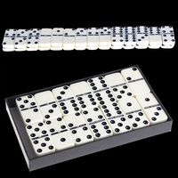 Wooden Domino Box Toy Game Set 28Pcs Travel Dominoes Ideal For Children Kids